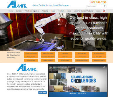 Website project for AJMFG