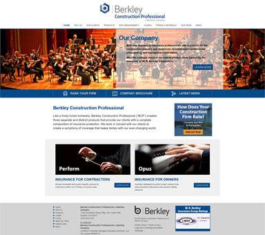 Berkley Construction Professional Web Design Project