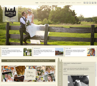 Web design pic of Buffalo Lodge