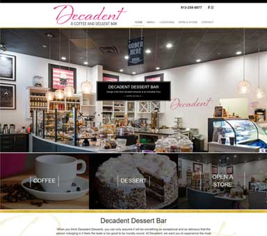 Decadent Dessert Bar Website example