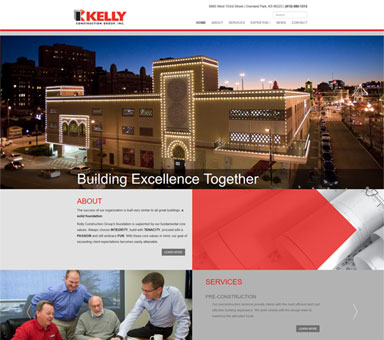 KC website design for Kelly Construction