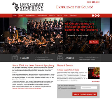 Lees Summit Symphony web design example