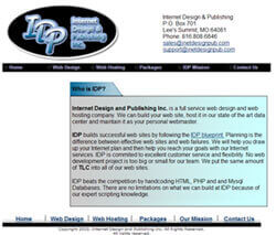 The original web site for Internet Design & Publishing- www.InetDesignPub.com