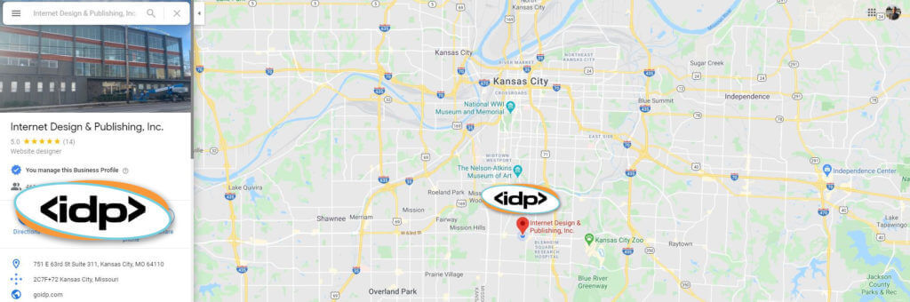Our new location in Kansas City with Map