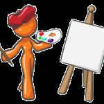 Web Design Orange Mascot