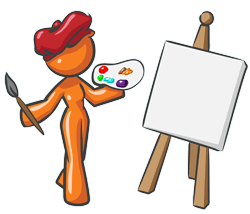 Web Design Orange Mascot