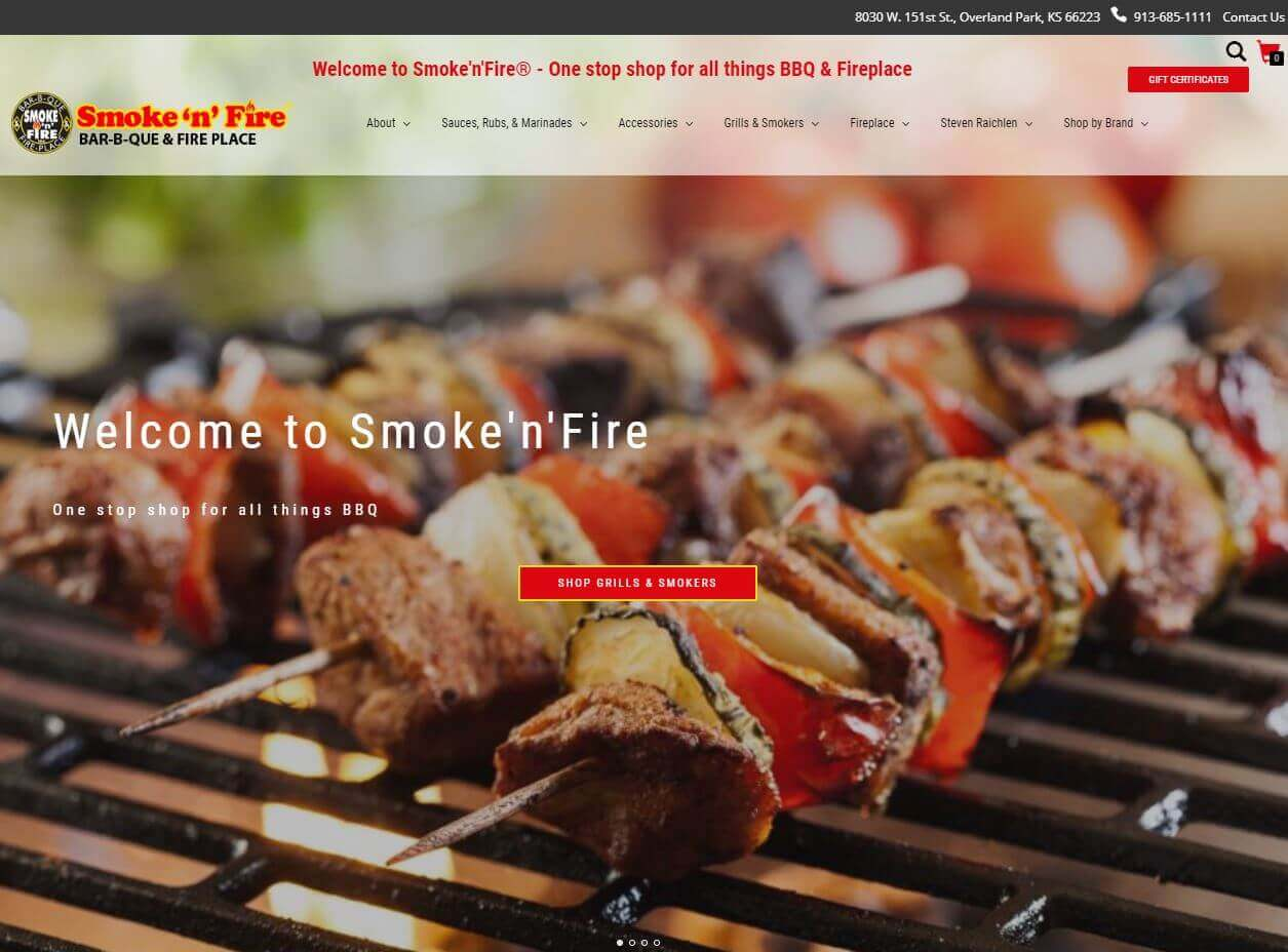KC web design project for SmokeNFire