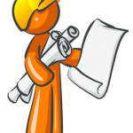 Web Design Engineer Orange Mascot