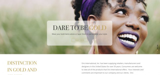 ORO International website design project example