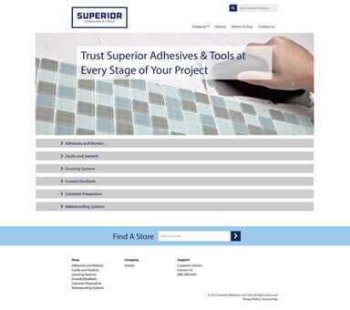 Superior Adhesives website