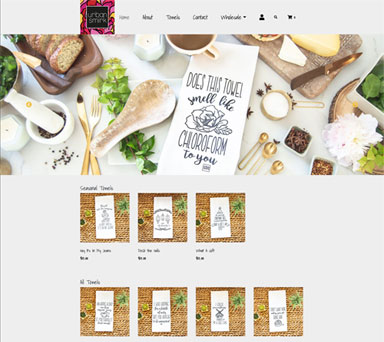 Home page layout for E-Commerce